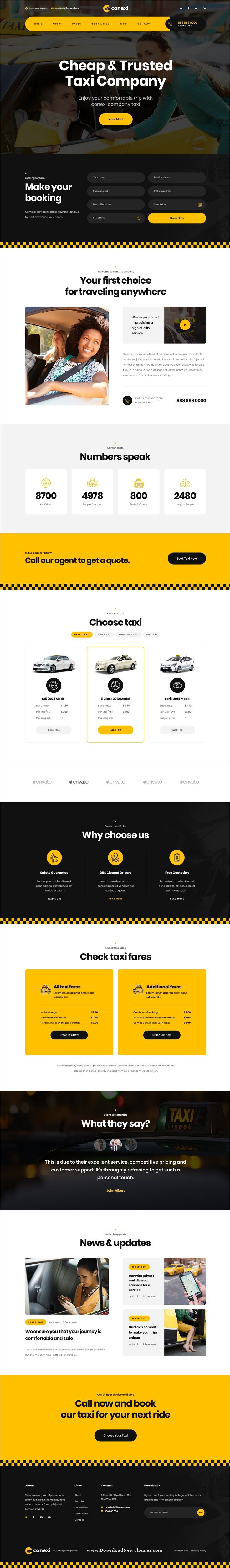Conexi Is A Clean And Modern Design Psd Template For Online