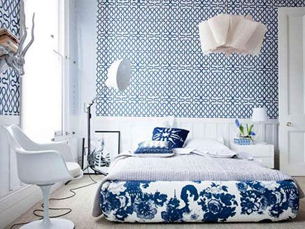 mooi-slaapkamer-behang-3 | Ideeën voor het huis | Pinterest | Grand ...