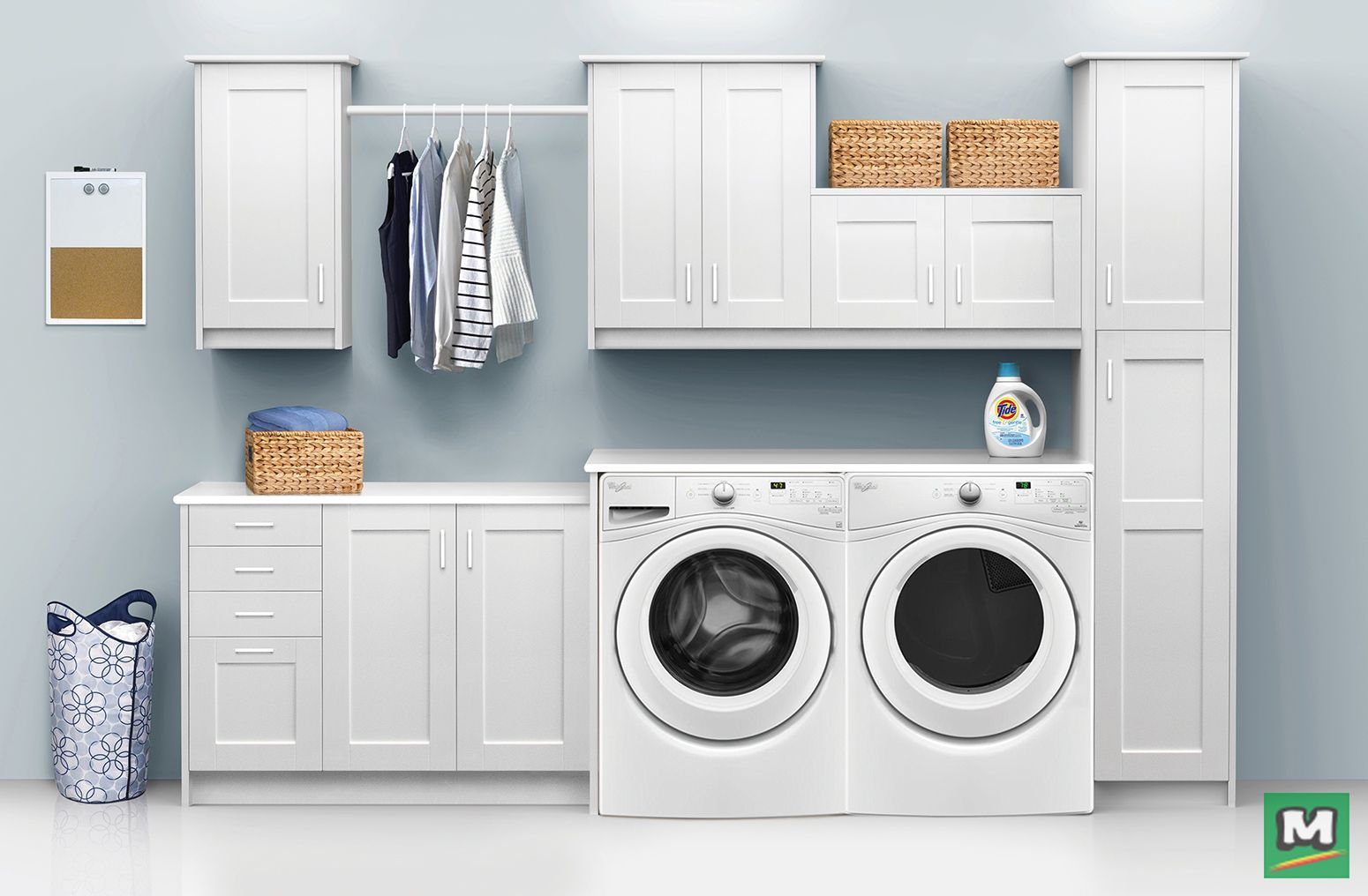 Klearvue Cabinetry Will Help You Love Your Laundry Room Again Create A One Of A Kind Layout Wit Laundry Room