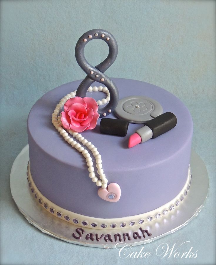 This Cake Was For A Glamor Themed Birthday Party For A