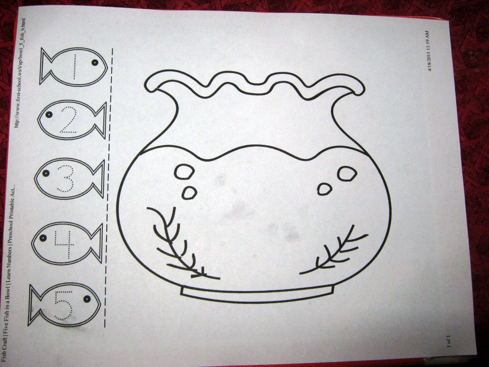 Fish Craft Template | Ordinal number practice activity. | crafts ...