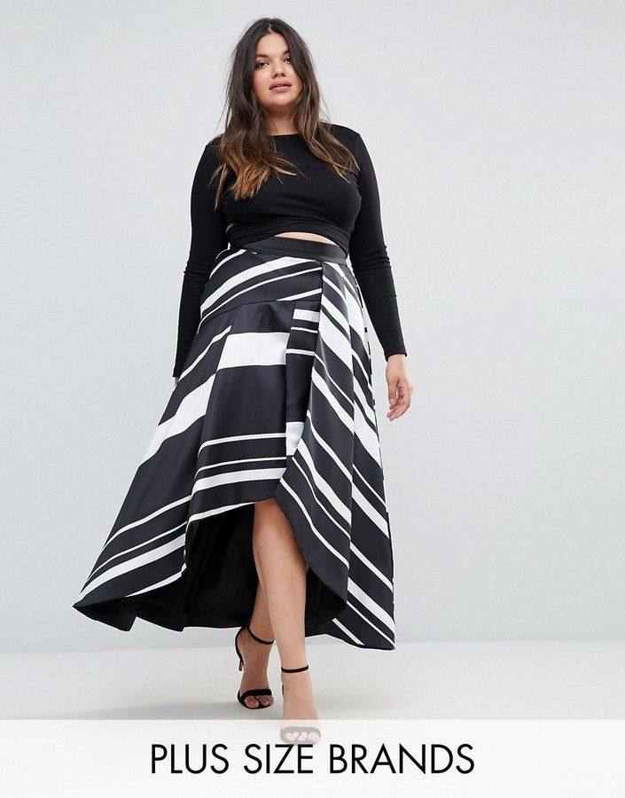 3b9d6178e6 Coast Plus Striped Maxi Skirt   Fabulous Full Figured Fashion ...