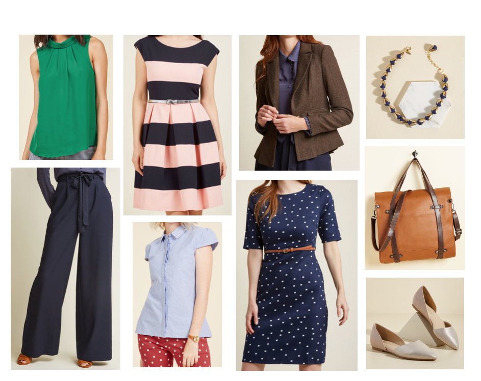 Cute Workwear On A Budget Business Casual Office Clothes From Modcloth Including Green Blouse