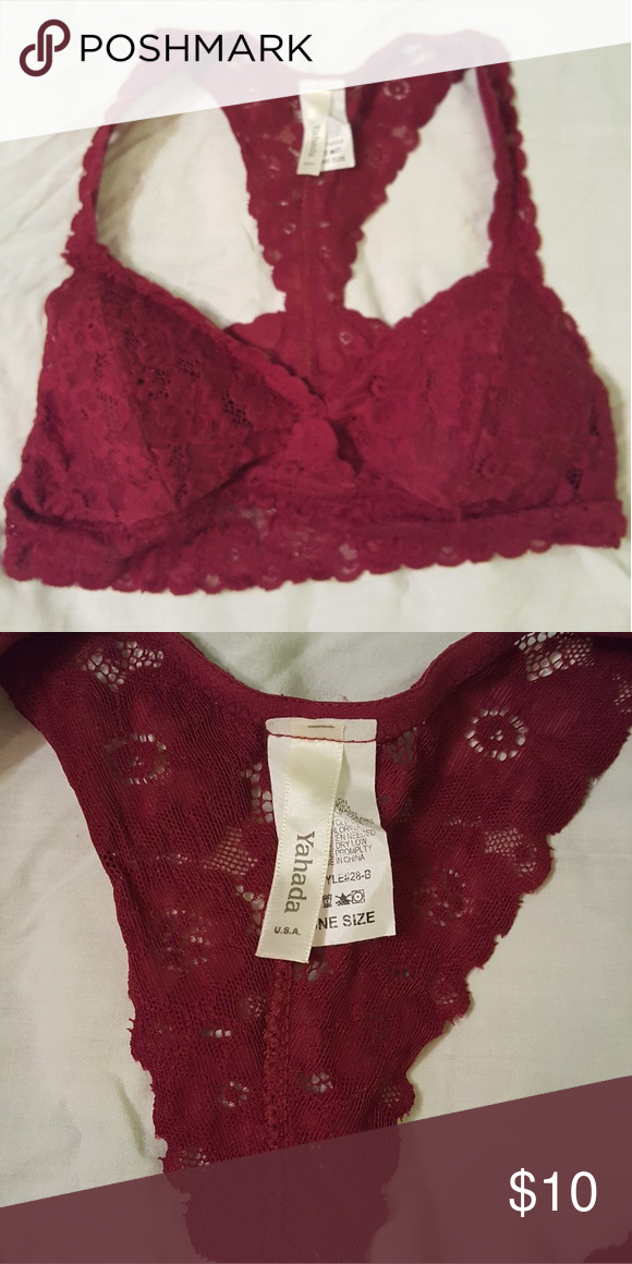 cfcfc375e79ee Yahada USA Lace Bralette with Removable Pad Non smoker