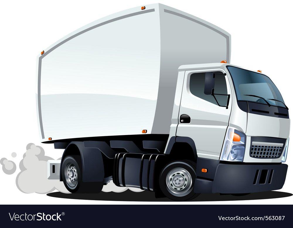 Cartoon Delivery Cargo Truck Vector Image On Dizajn Tachka