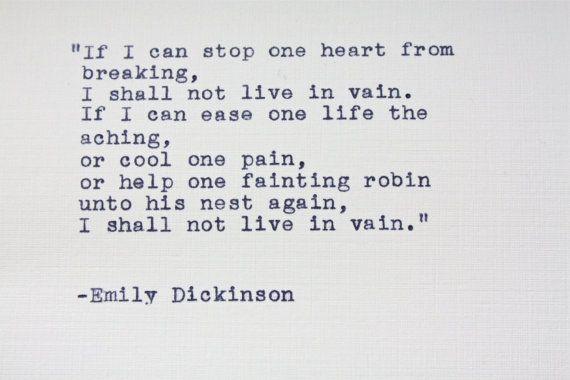 Emilyinson Quote Typed On A Vintage Typewriter