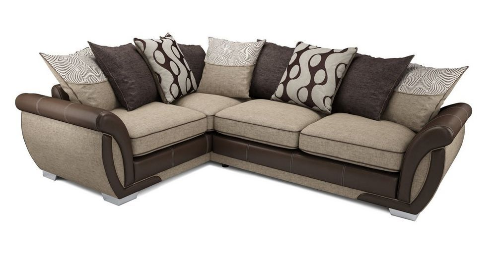 Amelle Right Hand Facing Pillow Back Deluxe Corner Sofa Bed Talia Dfs