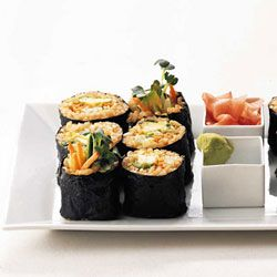 Easy, Delicious Vegetarian Sushi Lunch