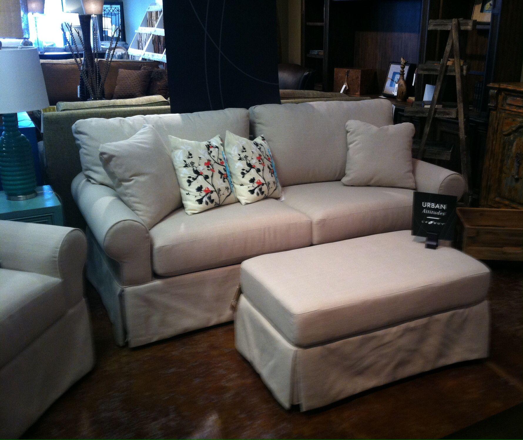 Lazboy urban attitudes sofa chair and ottoman
