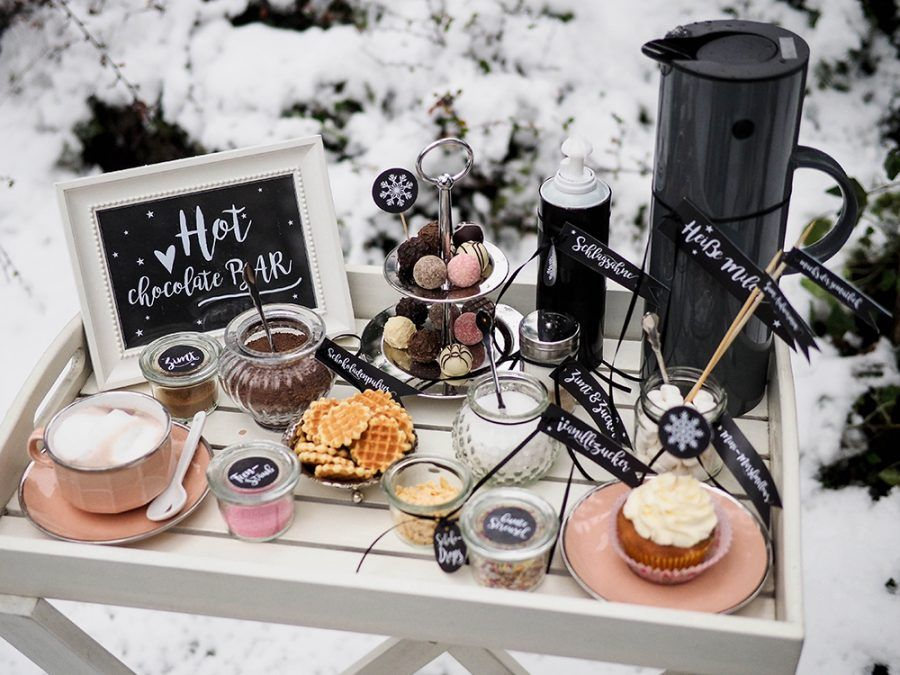 DIY Hot Chocolate Bar für die Winterhochzeit #hotchocolatebar
