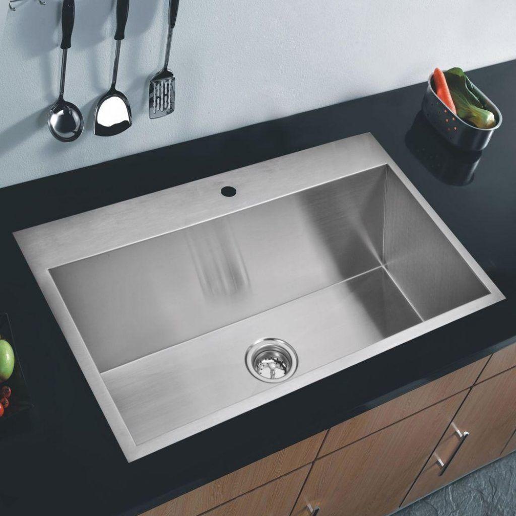 Flush Mount Kitchen Sinks Flush mount single bowl kitchen sink httpyonkou tei flush mount single bowl kitchen sink workwithnaturefo