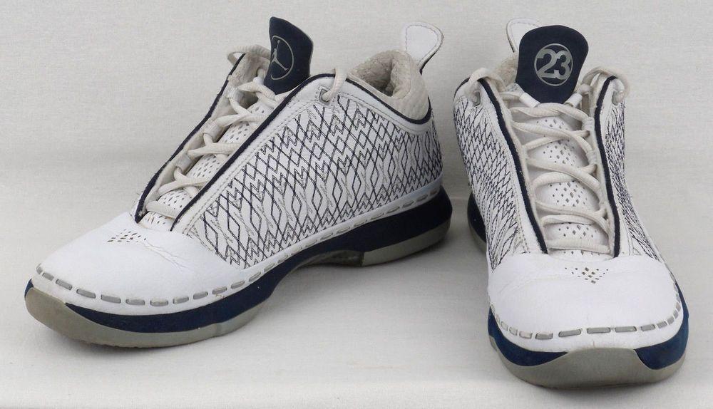 58d14adcd59 Nike Air Jordan XX3 23 Low White Navy Silver 2008 Men's 323405 141 Mens Size  8 #Jordan #BasketballShoes