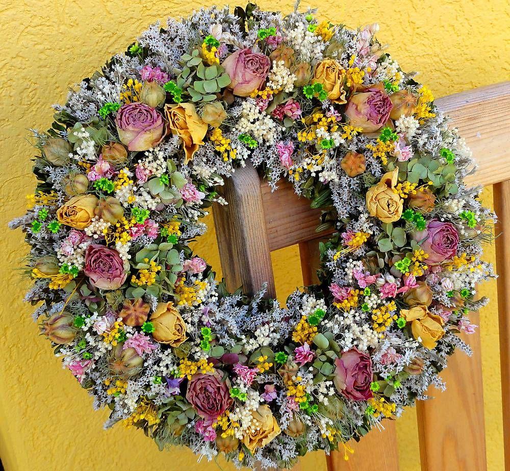 Dekorácie - Letní romantický věnec - 5570129_
