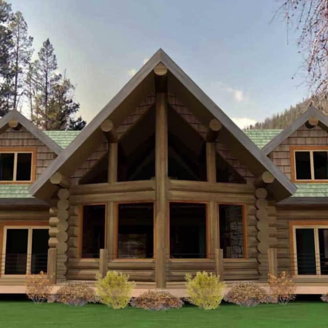 Charming Mountain Log Home Floor Plan by Caribou Creek Log Homes
