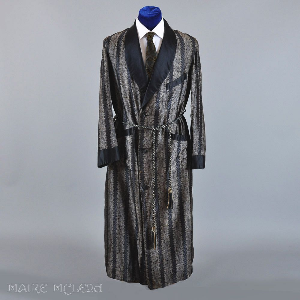 Vintage 1930s - 40s Mens Robe Dressing Gown - M Maire McLeod ...