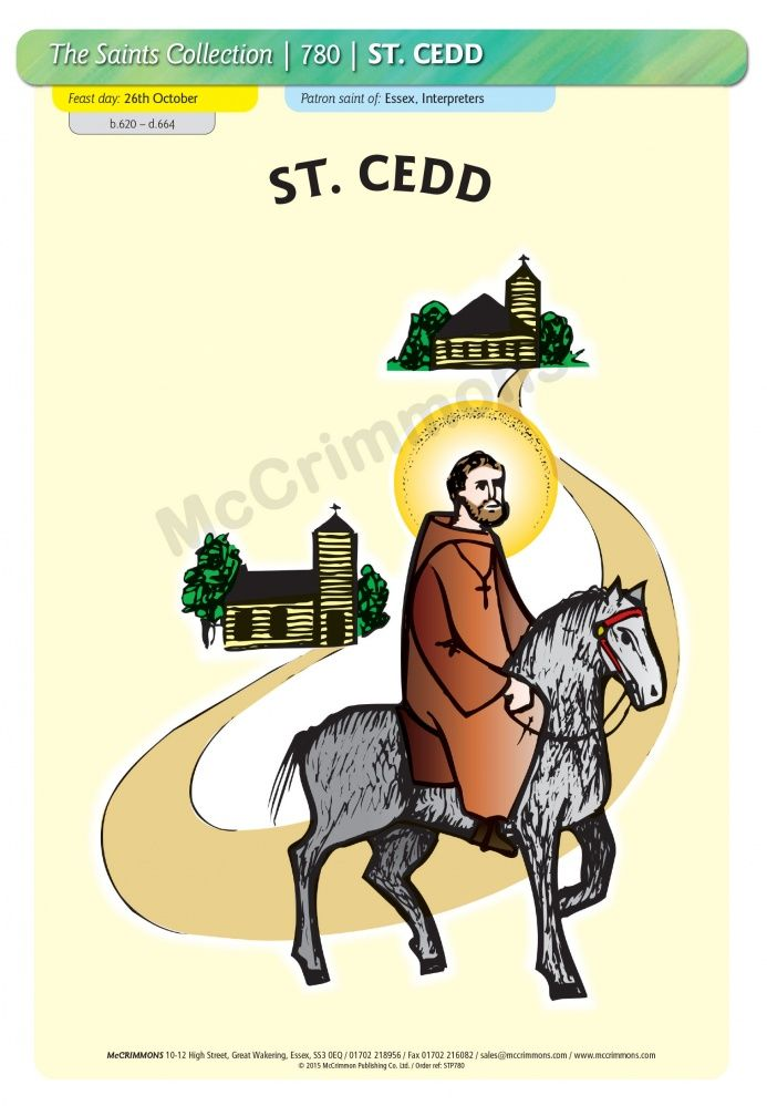 St. Cedd - 26 October #SaintsDay - A3 Poster (STP780)