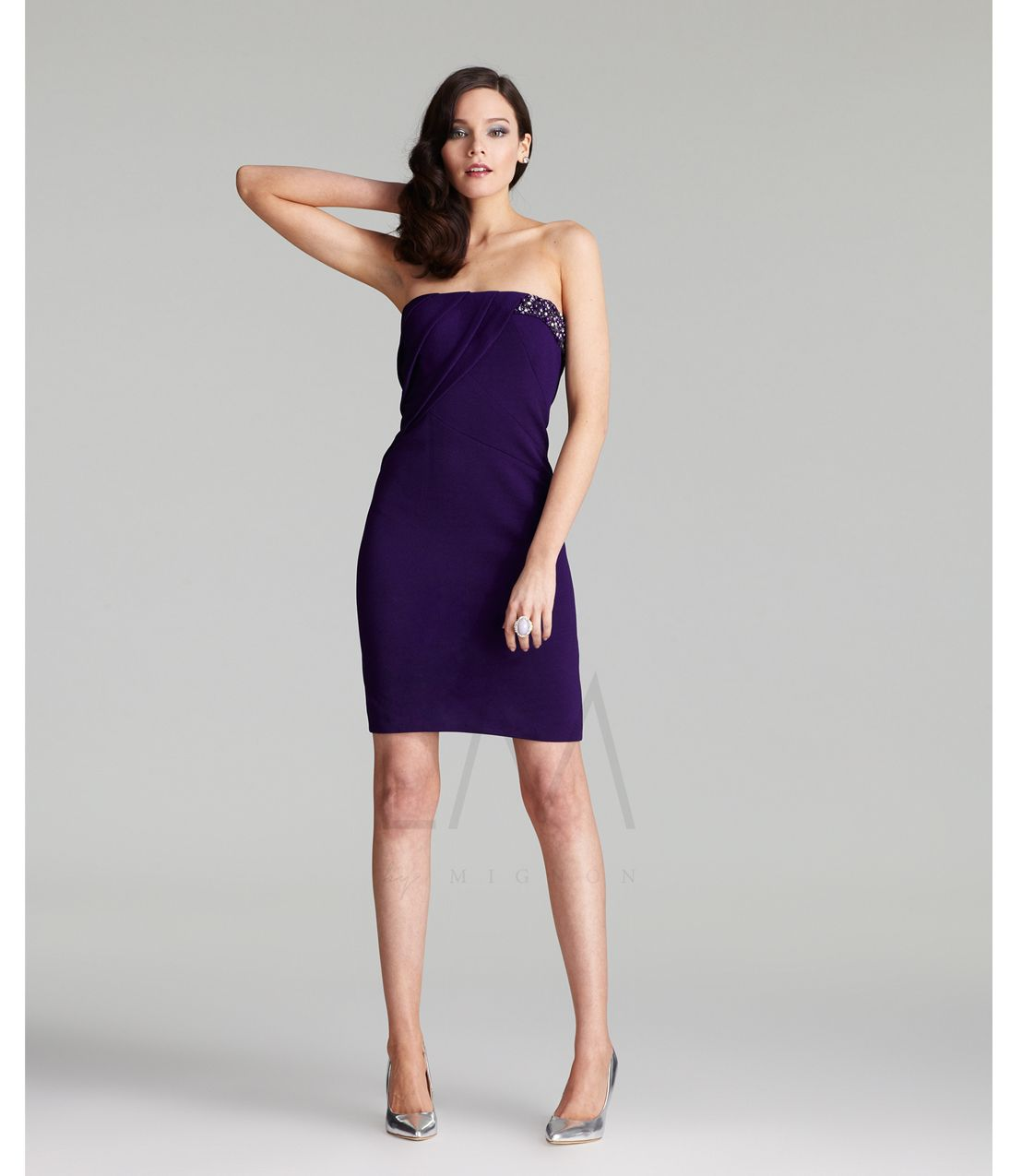 9 best images about Purple Cocktail Dress on Pinterest | Shorts ...
