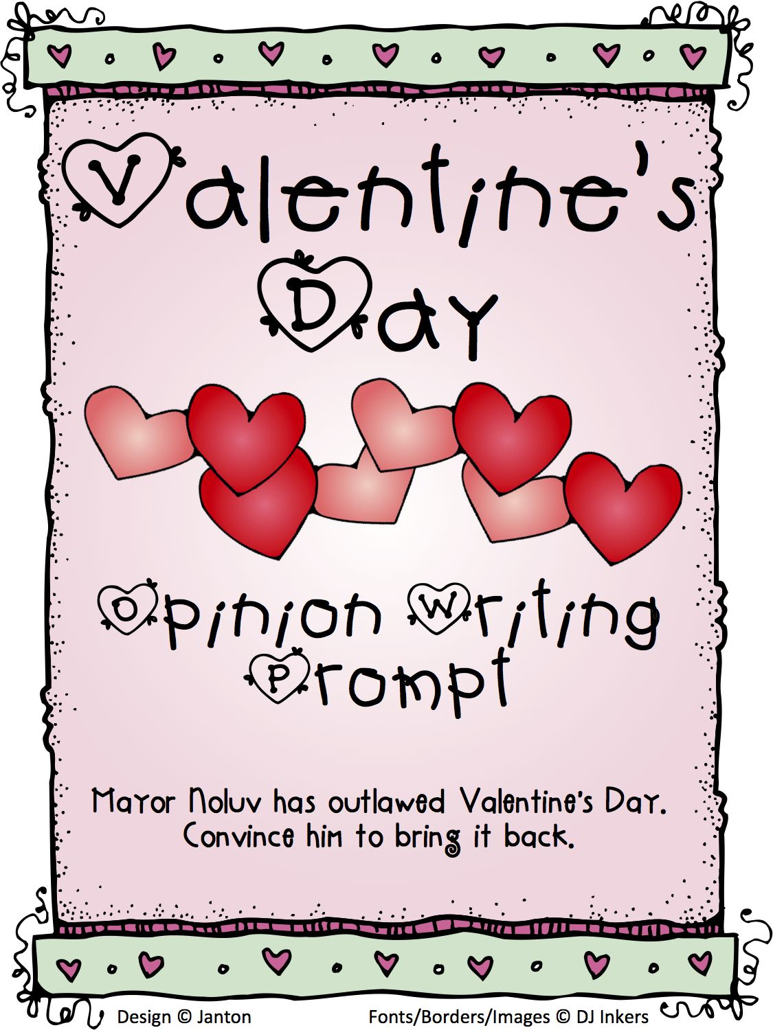 Valentine S Day Writing Prompt