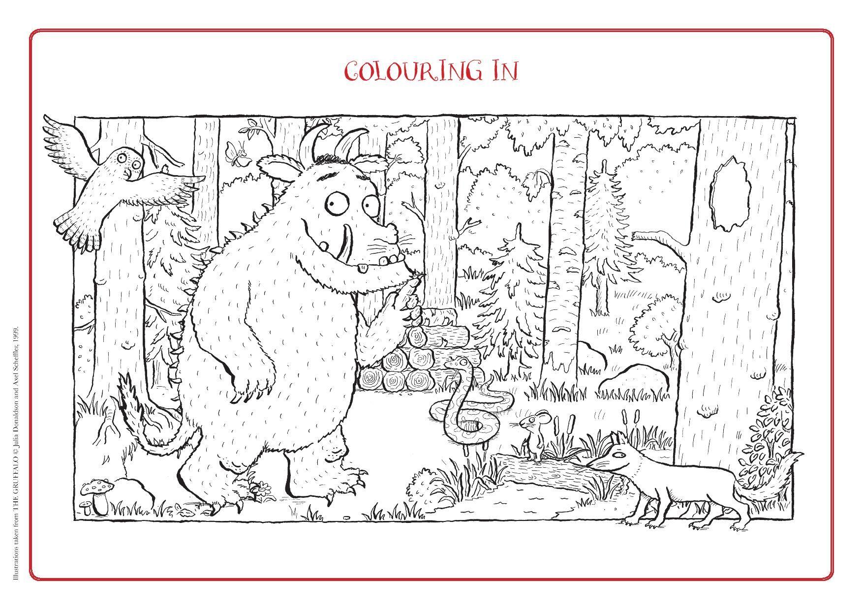 Here S A Fun Activity For A Summer Holiday Lunchtime Colouring In Your Very Own Gruffalo Kleuterschool Wiskunde Kleurplaten Prentenboeken