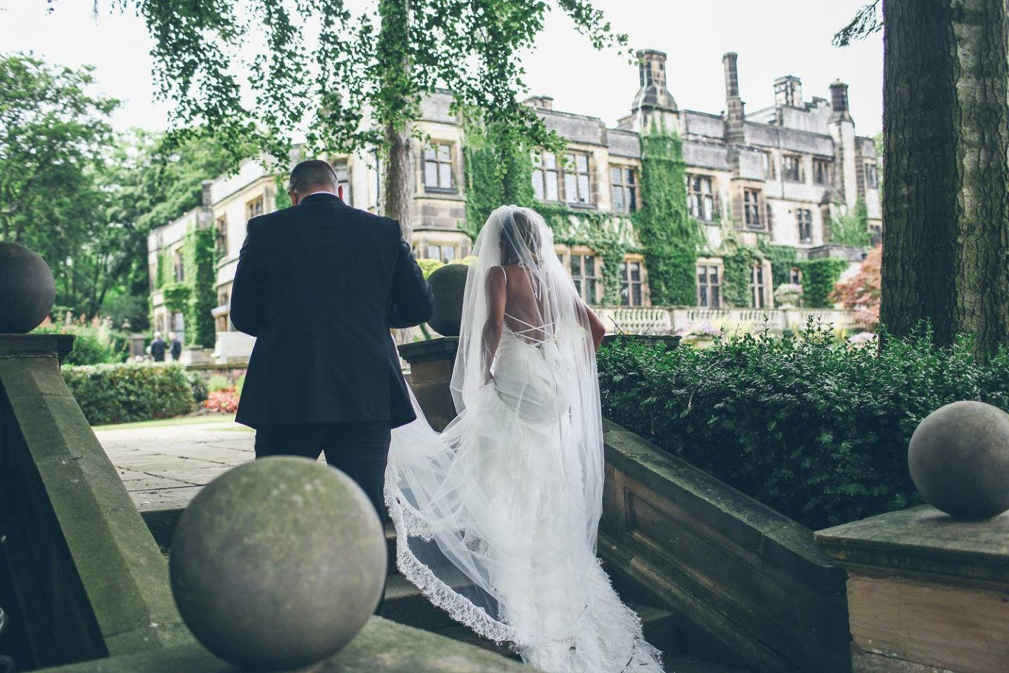 A traditional english wedding turned hollywood glamour reception at