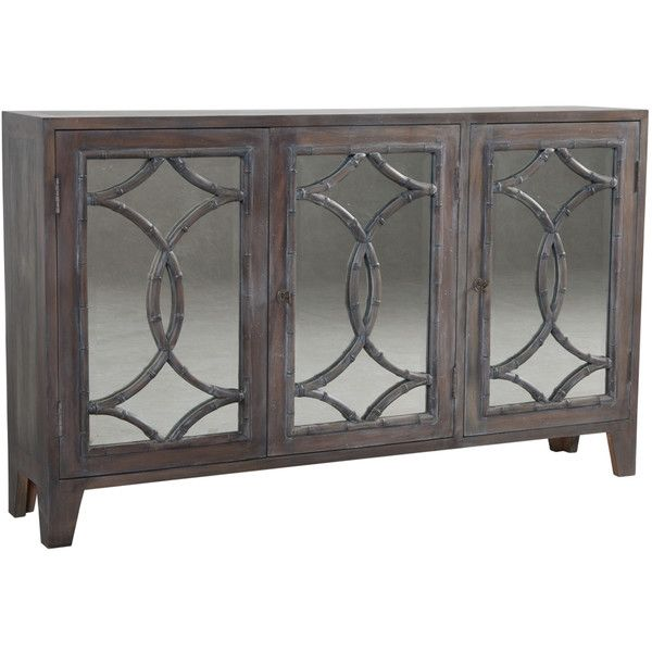 Wooden Bamboo Mirrored Credenza Mirrored Credenza Mirrored Sideboard Mirrored Furniture