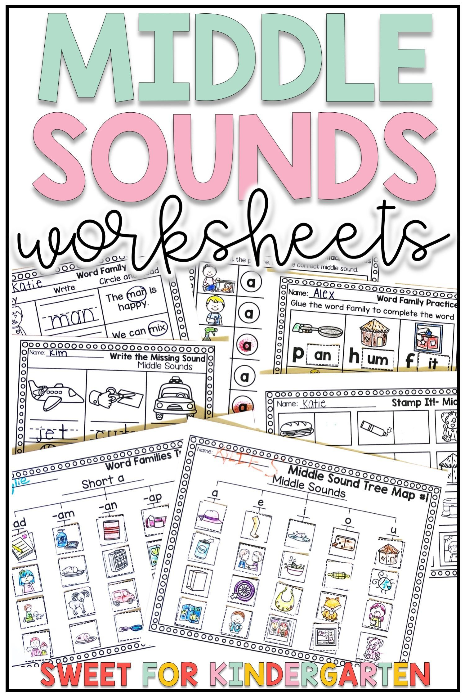 Short Vowel Middle Sounds Worksheets Distance Learning In