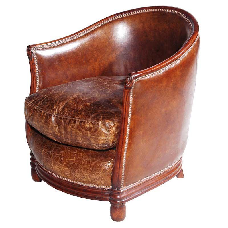 Deco Tub Chair Leather Vintage Cigar - Deco Tub Chair Leather Vintage Cigar Relax Pinterest Tub Chair