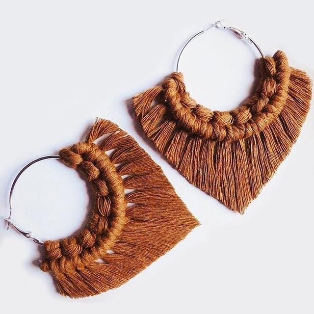 Boho Tassel Crochet Burnt Orange Macrame Earrings - Boho Tassel Crochet Burnt Orange Macrame Earrings Effektive Bilder, die wir über  jewelry 2019  anb - #Boho #bohojewelrydiy #Burnt #Crochet #Earrings #jewleryorganizerdiy #Macrame #Orange #Tassel