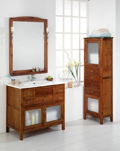 Muebles cuartos de ba o rusticos inspiraci n de dise o for Muebles de bano de madera rusticos
