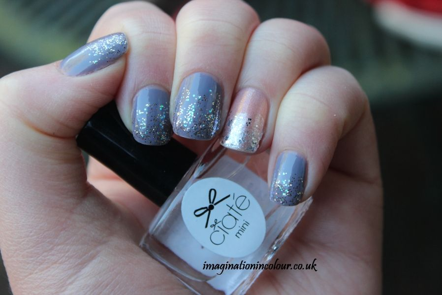 Ciate Mini Mani Month Glitter Nail Art Grant Polish Grey Gold Iridescent Silver Shimmer Day