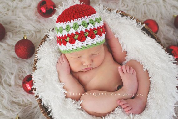 Newborn christmas hat baby boy christmas hat by emmascozyattic ...