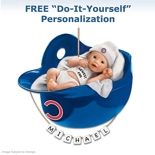 Chicago cubs personalized babys first ornament chicago cubs chicago cubs personalized babys first ornament negle Choice Image