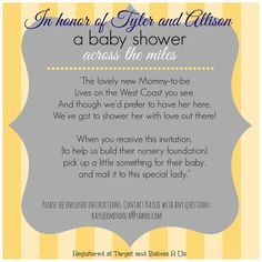 Wonderful Long Distance Baby Shower Invitation, Virtual Baby Shower, Military Baby  Shower