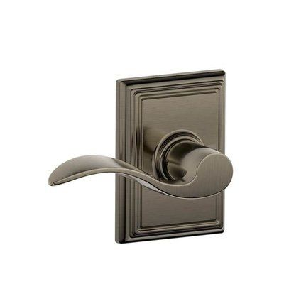 Schlage Accent F Series Passage Door Lever with Addison Rosette Finish: Antique Nickel