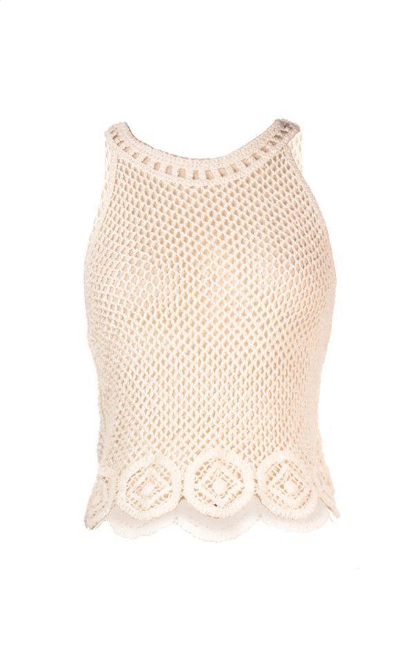 Top Cover Up Crochet - Fancy Neck | blusas crochet | Pinterest ...