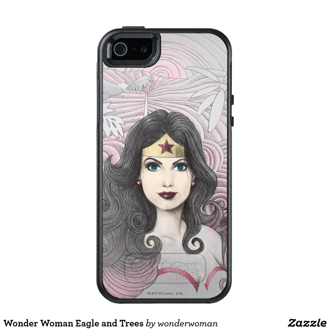 Wonder Woman Eagle and Trees OtterBox iPhone 5 5s SE Case. Awesome retro  and classic Wonder Women art from DC Comics. Unique superheroine designs to  ... 8aa9b135ca
