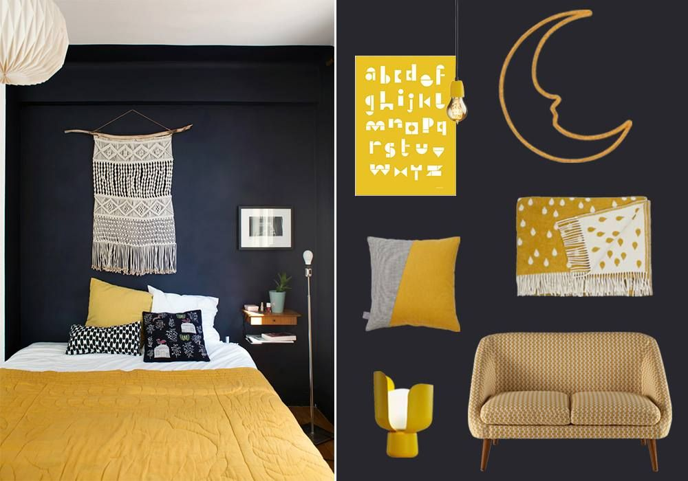34+ Chambre gris bleu jaune trends