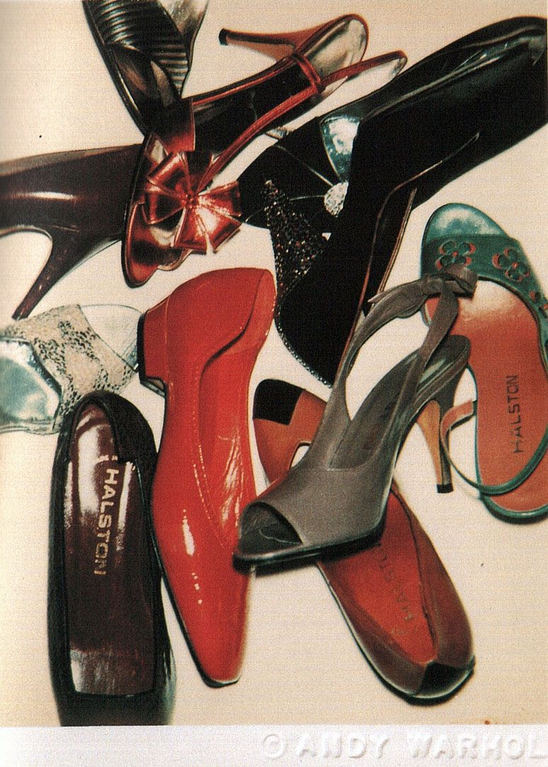ANDY WARHOL PHOTO OF HALSTON SHOES bring back 70s disco