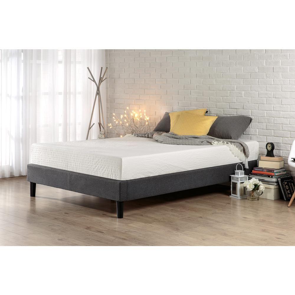 Zinus Curtis Upholstered Platform Bed Frame King Upholstered