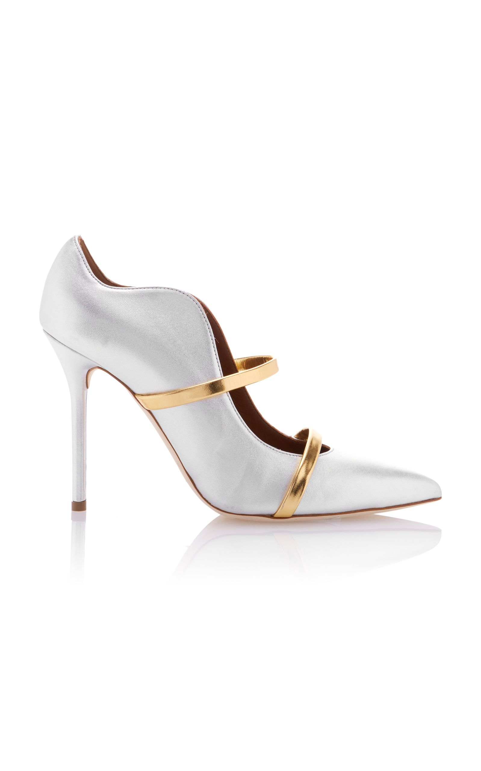 Maureen Metallic Leather Mules Malone Souliers tLNqgYm