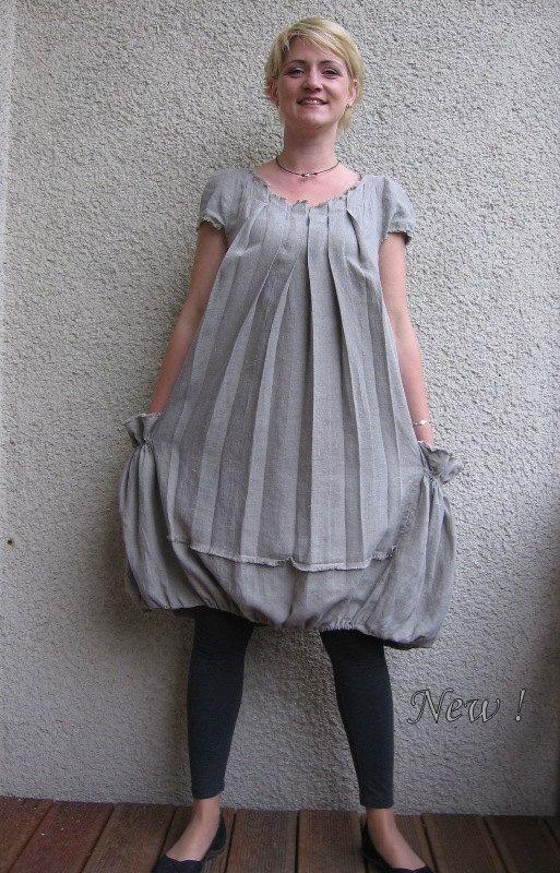 Eco amichevole vestito di lino naturale tunica di rubuartele