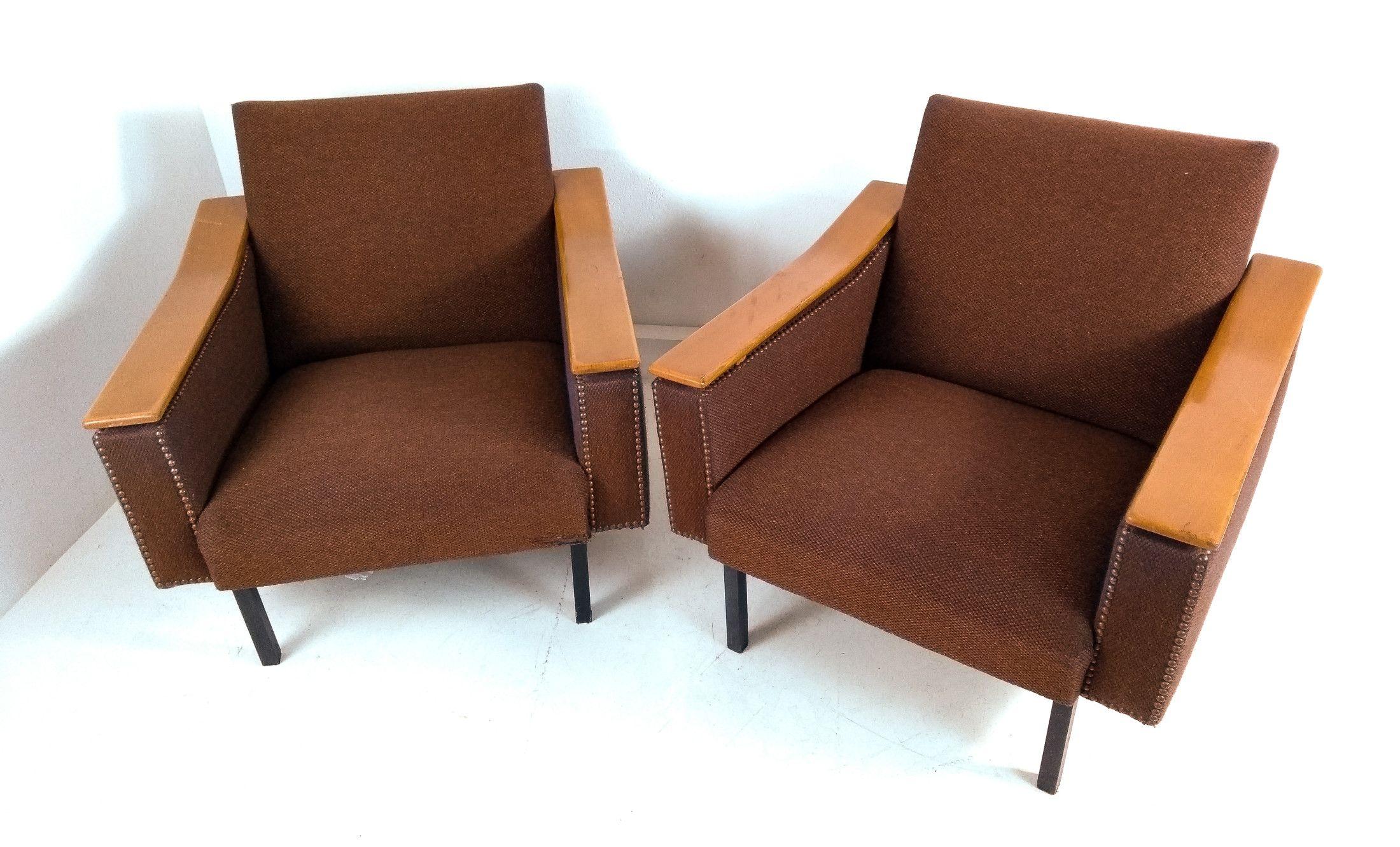 Design Scandinavo Anni 50 coppia di poltrone vintage design scandinavo, anni 50/60