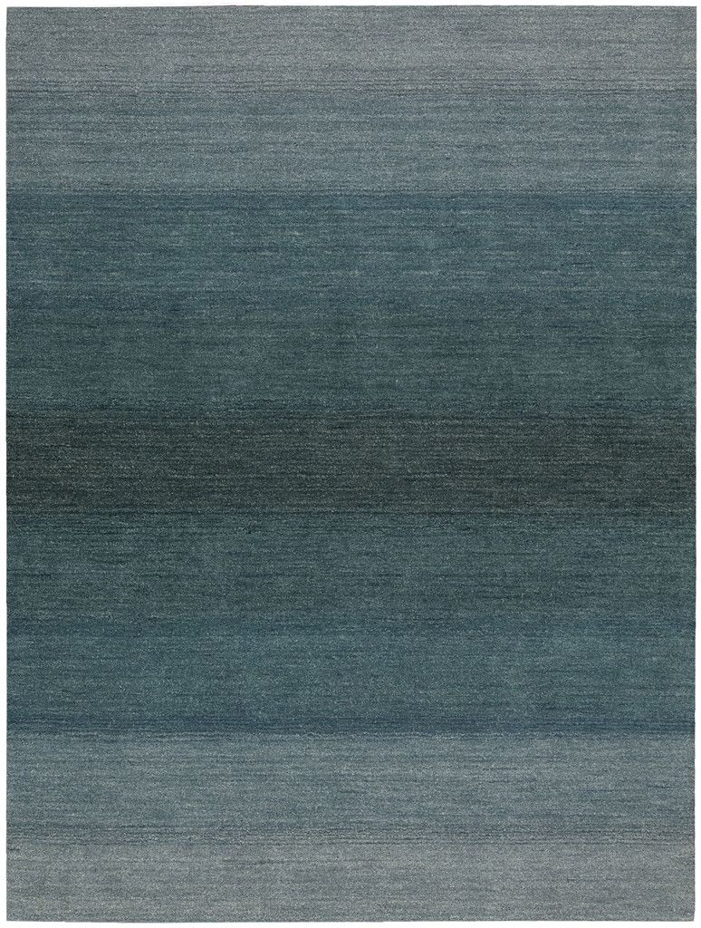 Watercolor 100 Wool Area Rug In Aqua Design By Calvin Klein Home Designer