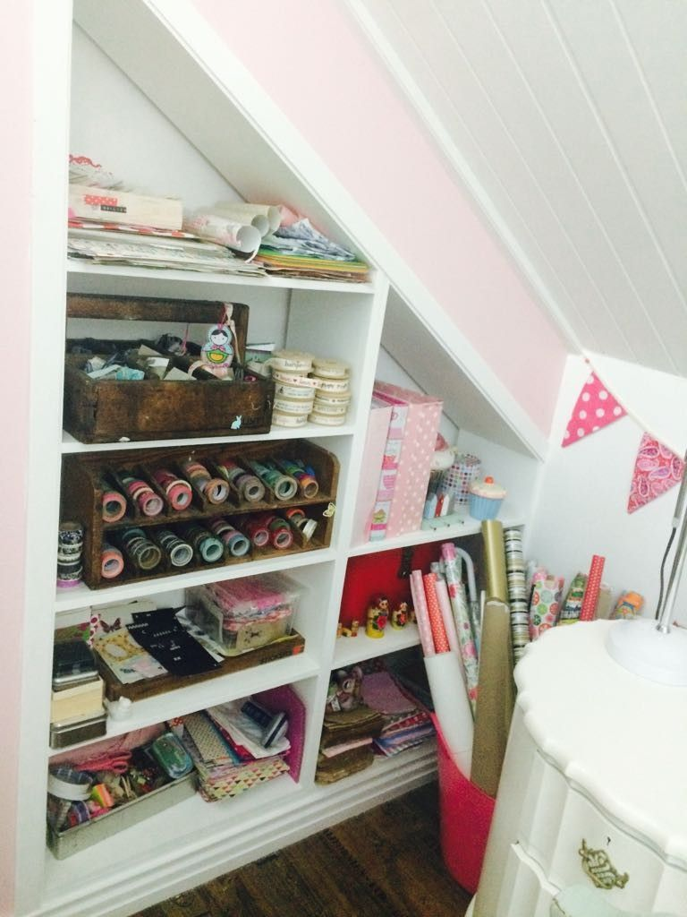 Craft Corner Storage Wooden Boxes Loft Room Corner Storage Wooden Boxes