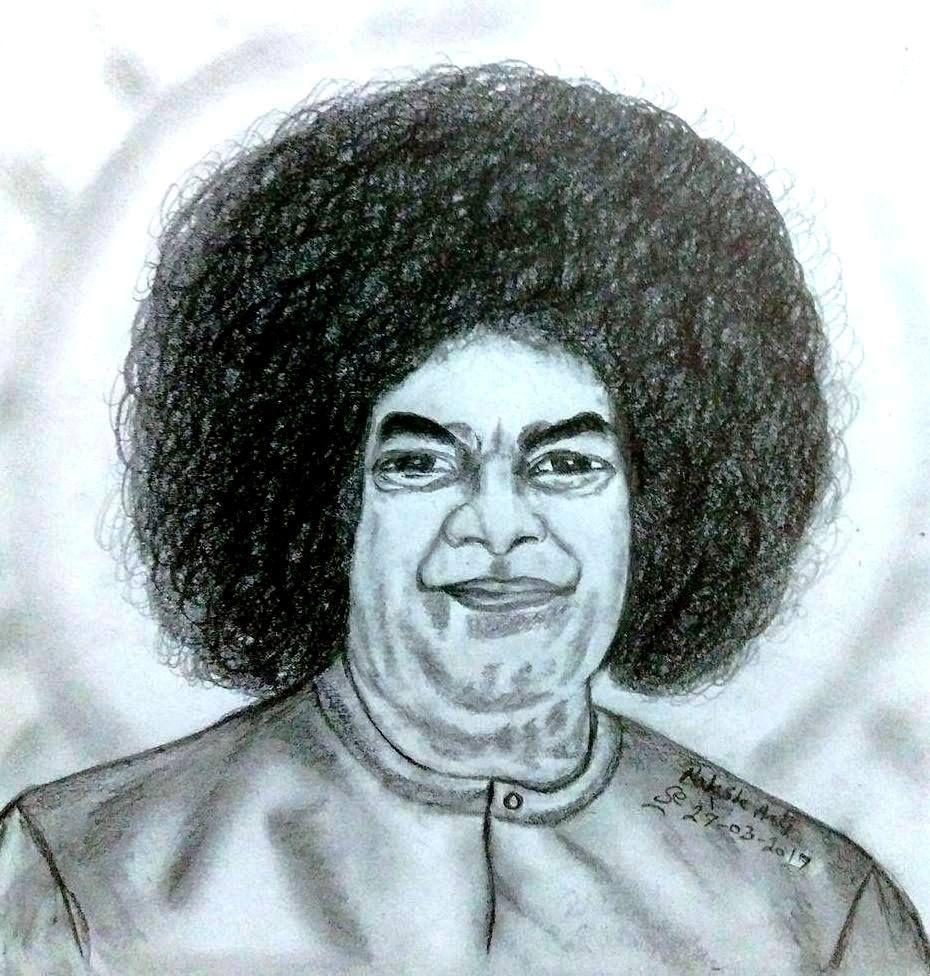 Pencil drawing sathya sai baba pencil drawing pencil drawings