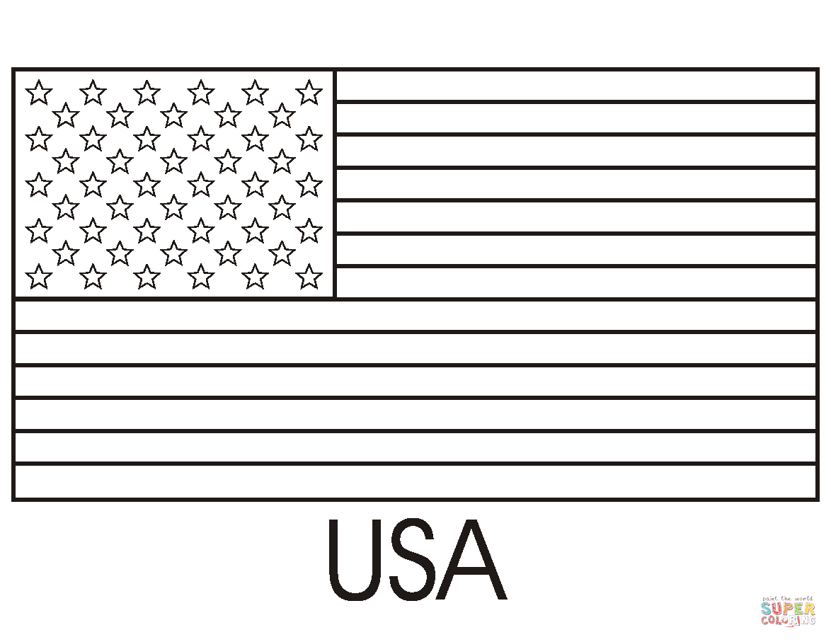 Flag Of The United States Of America Coloring Page Free Printable Coloring Pages In 2020 Flag Coloring Pages Flag Printable American Flag Coloring Page