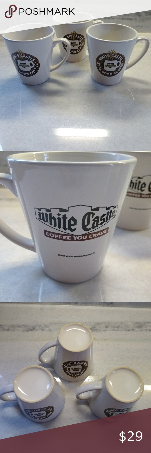 """Vintage White Castle /""""Real Good Coffee/"""" /""""Coffee You Crave/"""" Coffee Mug cup"""