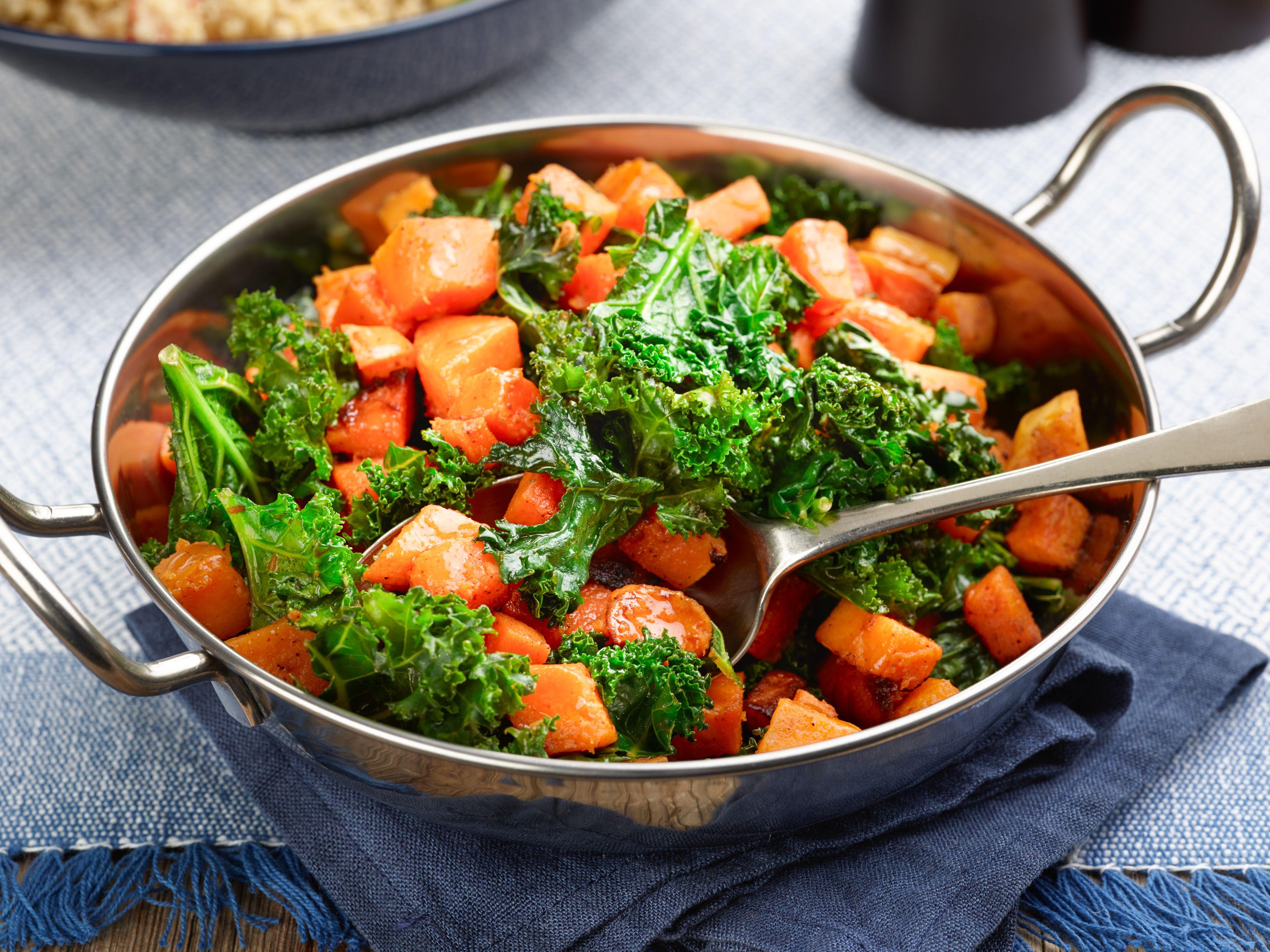Ernut Squash And Kale Stir Fry