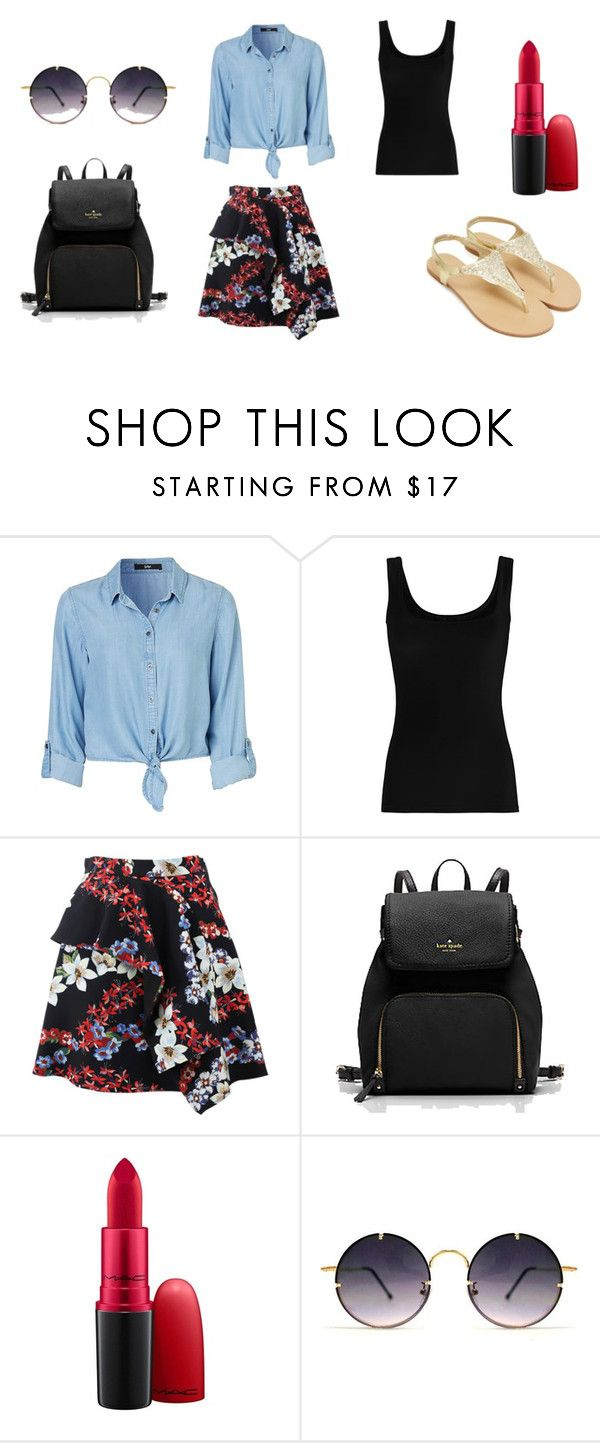 """""""floral"""" by thaliagracehyperion on Polyvore featuring Twenty, MSGM, MAC Cosmetics and Spitfire"""