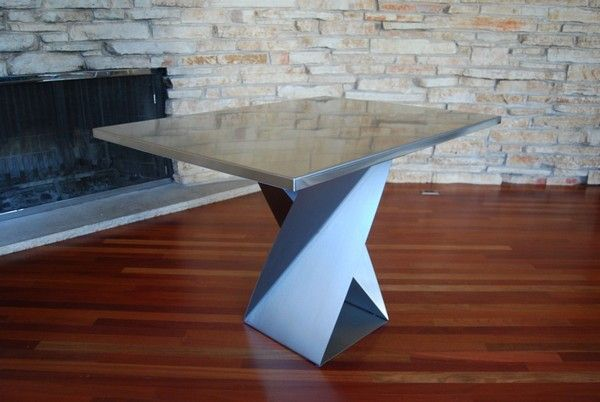 Stainless Steel Twist Bases  Table Tops for Unconventional